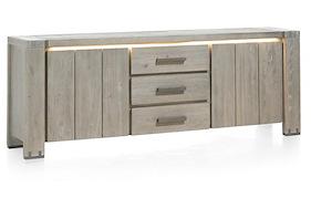 Avola, Sideboard 2-doors + 3-drawers - 220 Cm