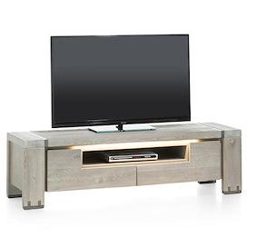 Avola, Meuble Tv 2-portes Rabattantes + 1-niche - 160 Cm