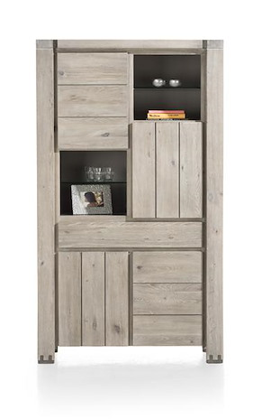 Avola, Cabinet 4-doors + 1-drawer + 4-niches