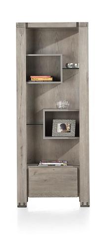 Avola, Bibliotheque 1-tiroir + 5-niches - 190 Cm