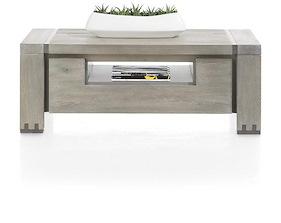 Avola, Table Basse 120 X 60 Cm + 2-portes Rabattantes + 1-niche