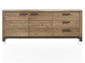 Falster, Sideboard 2-doors + 3-drawers 220 Cm