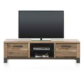 Falster, Meuble Tv 1-tiroir + 1-porte Rabattante + 2-niches 170 Cm