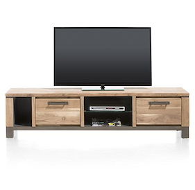Falster, Meuble Tv 1-tiroir + 1-porte Rabattante + 3-niches 190 Cm