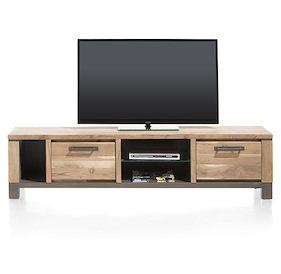 Falster, Meuble Tv 190 Cm - 1-tiroir + 1-porte Rabattante + 3-niches