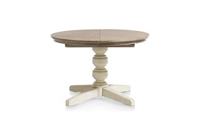 Le Port, Table A Rallonge Rond 120 Cm (+ 50 Cm)
