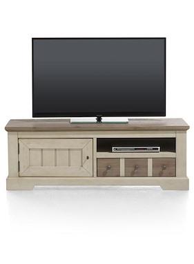 Le Port, Meuble Tv 1-porte + 1-tiroir + 1-niche - 140 Cm