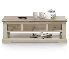 Le Port, Table Basse 120 X 60 Cm + 3-tiroirs T&t + 1-niche