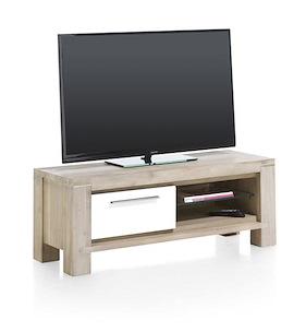 Multiplus, Meuble Tv 120 Cm - 1-porte Rabattante + 2-niches