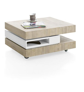 Multiplus, Table Basse 80 X 70 Cm + 4-niches