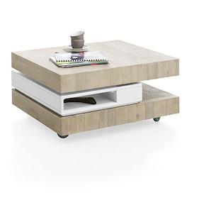 Multiplus, Table Basse 80 X 70 Cm + 4-niches