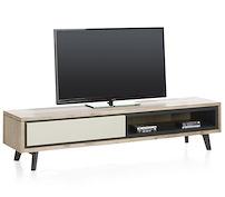 Jade, Meuble Tv 1-porte Rabattante + 1-niche - 180 Cm