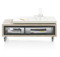 Jade, Table Basse 100 (+ 20) X 60 Cm + 2-niches