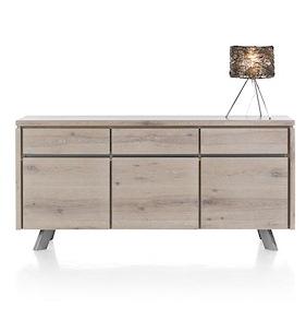 Ermont, Sideboard 3-doors + 3-drawers - 180 Cm