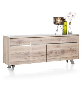 Ermont, Sideboard 4-doors + 3-drawers - 210 Cm
