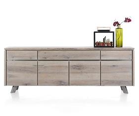 Ermont, Sideboard 4-doors + 3-drawers - 240 Cm