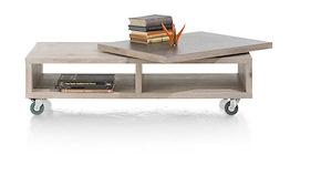 Ermont, Table Basse 120 X 60 Cm + Plateau Pivotant