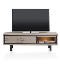 Eivissa, Meuble Tv 1-porte Rabattante + 1-niche - 150 Cm (+ Led)