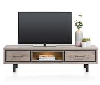 Eivissa, Meuble Tv 1-tiroir + 1-porte Rabattante + 1-niche - 180 Cm (+ Led)
