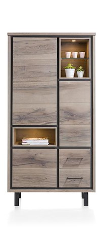 Eivissa, Armoire 3-portes + 2-tiroirs + 3-niches (+ Led)