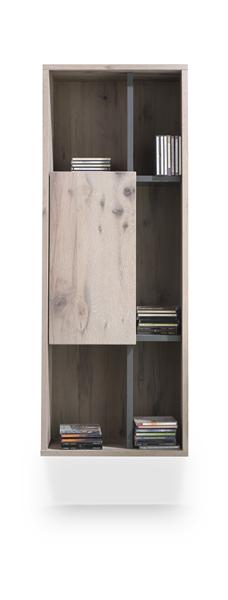 Eivissa, Armoire Murale 1-porte + 5-niches - 45 Cm