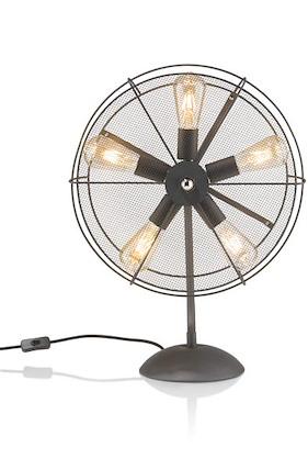 Fan, Lampe De Table 5-ampoules