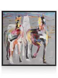 Painting Galop On The Prairie - 95 X 95 Cm