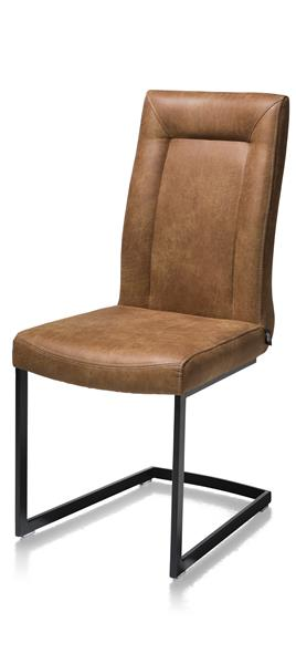 Malene, Chaise - Metal Noir - Pieds Traineau Rectangle