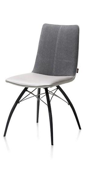 Kyle, Chaise - Pied Noir Avec Poignee - Tatra/miami Combinaison
