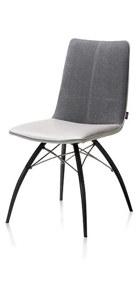 Kyle, Dining Chair - Metal Off Black + Grip - Tatra/miami Combi