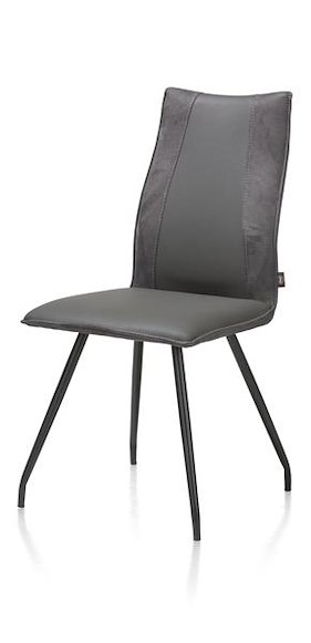 Gabino, Dining Chair - 4 Black Legs - Combination Tatra / Calabria