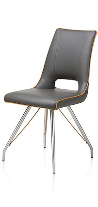 Duncan, Chair Stainless St.tatra Antracite+accent Or Tatra Charcoal+accent