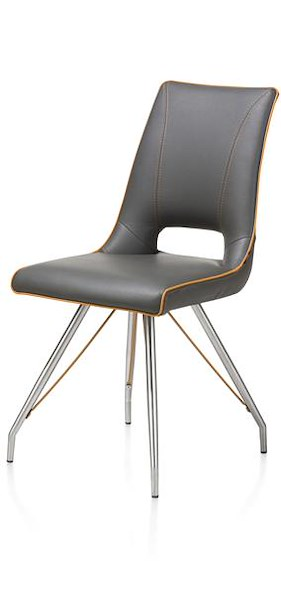 Duncan, Chair Stainless Steel Tatra Antracite Or Tatra Charcoal +accent