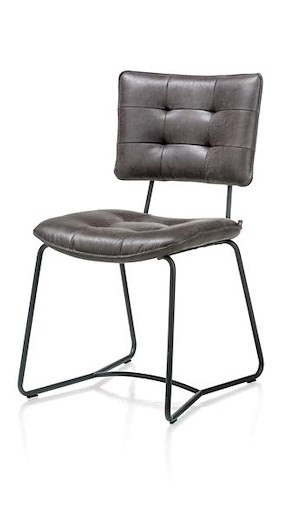 Julien, Dining Chair - Black Frame - Corsica