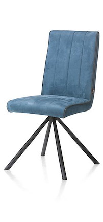 Elza, Dining Chair - 4 Black Legs - Fabric Calabria 4 Colours