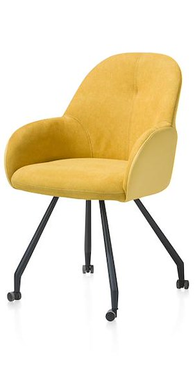 Clarissa, Dining Armchair With Wheels