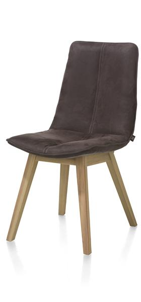 Lisa, Chaise - Pied Hetre Couleur Cigar Brown - Kibo Cognac / Coffee