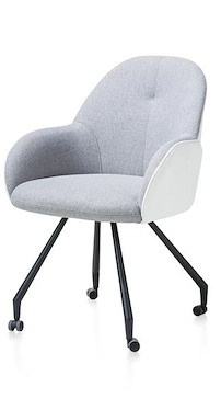 Clarissa, Dining Armchair With Wheels - Combi Gibson / Moreno