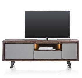 Box, Lowboard 170 Cm 1-porte + 1-tiroir +1-porte Rabattante +1-niche (+led)