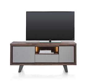 Box, Lowboard 140 Cm 1-porte + 1-tiroir +1-porte Rabattante +1-niche (+led)