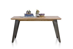 Box, Extendable Dining Table 160 (+ 50) X 100 Cm - Square Leg