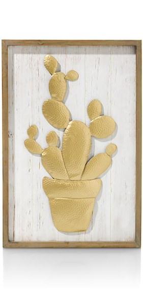 Decoration Mural Cactus - 60 X 40 Cm