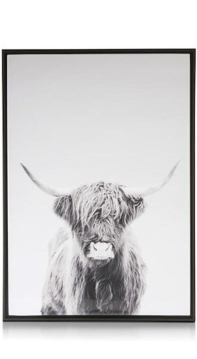 Painting Cow - 74 X 104 Cm