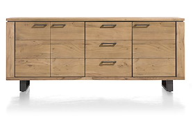 Quebec, Sideboard 3-doors + 3-drawers - 210 Cm