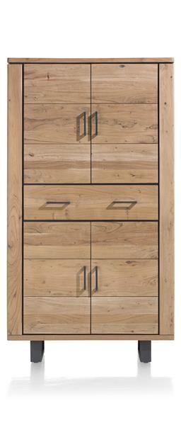 Quebec, Armoire 4-portes + 1-tiroir - 110 Cm