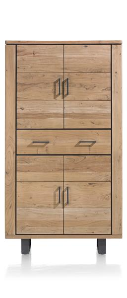 Quebec, Cabinet 4-doors + 1-drawer - 110 Cm