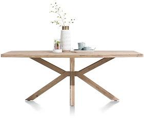 Quebec, Table 210 X 100 Cm - Pieds En Bois