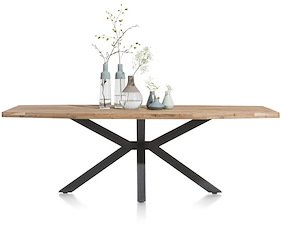 Quebec, Dining Table 180 X 100 Cm - Metal Leg