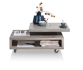 Maitre, Table Basse 90 X 70 Cm - Plateaux Pivotant