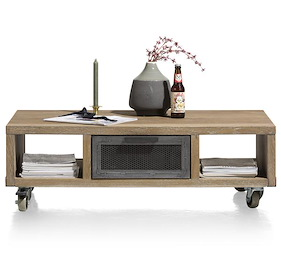Vitoria, Table Basse 110 X 60 Cm + 1-tiroir T&t + 2-niches